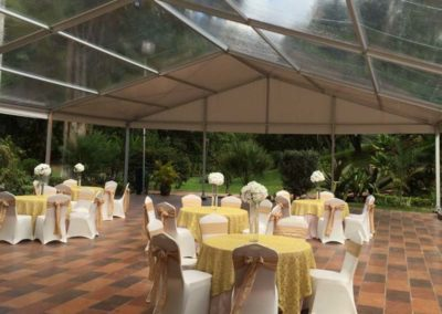 40x50 partial clear tent