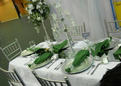 silver chiavari set up